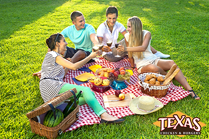 Making the perfect summer picnic at Texas chicken and burger