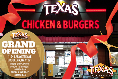 Texas Chicken and Burgers Bushwick and Bed-Stuy Store Opening - at 1104 Lafayette Avenue