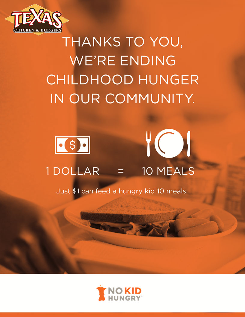 Our New Charity Partnership with 'No Kid Hungry'